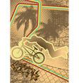 vintage urban grunge bmx vector image vector image