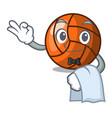 waiter volleyball mascot cartoon style vector image vector image