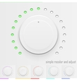 white technology music button volume knob vector image