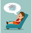 woman stressful condition icon vector image
