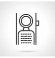 Door handle label line icon vector image