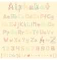 Funny hand drawn latin alphabet letters vector image