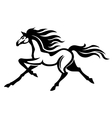Running stallion vector image