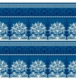 Seamless Blue Black Lace Pattern vector image
