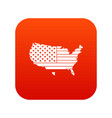 american map icon digital red vector image