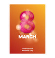 8 march womens day sign icon holiday symbol icon vector image vector image