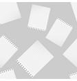 a realistic school notebook vertical blank vector image vector image