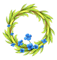 A round border with blue flowers vector image vector image