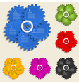 Abstract design template with gear wheels - info vector image vector image
