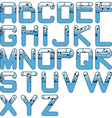 alphabet music glossy blue vector image vector image