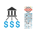 Bank Payments Icon With 2017 Year Bonus Symbols vector image vector image