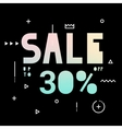 Banner for the Black Friday sale vector image vector image
