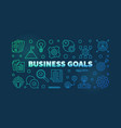 business goals colorful or banner in vector image vector image