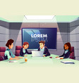 business team meeting in conference room vector image vector image