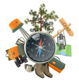 Camping Concept with Compass vector image vector image