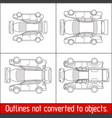 car sedan hatchback suv pickup vehicle check vector image vector image