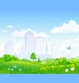 cartoon city park vector image
