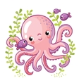 Cartoon young octopus vector image