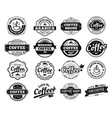 coffee badges cafe logo stamp sticker restaurant vector image vector image
