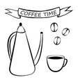 coffee set for menu vector image vector image