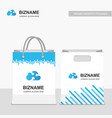 company design shopping bags with blue theme with vector image