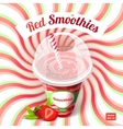 Conceptual poster red smoothies in plastic cup vector image