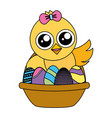 cute chick easter vector image