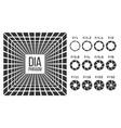 diaphragm lens aperture monochrome banner vector image