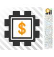 dollar mining pool flat icon with bonus vector image vector image