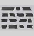 duct tape isolated black adhesive stripes vector image