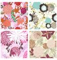 Floral backgrounds set vector | Price: 1 Credit (USD $1)