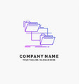 folder file management move copy purple business vector image vector image