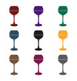 glass of red wine icon in black style isolated on vector image vector image