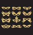 gold carnival party face mask vector image vector image