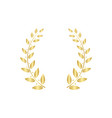 greek laurel or olive wreath for award vector image vector image