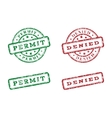 Green and red logo stamp vector image