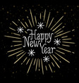 happy new year holiday card with lettering and vector image vector image