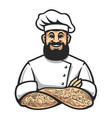 hipster chef icon vector image