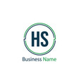 initial letter hs logo template design vector image vector image