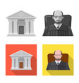 isolated object of law and lawyer sign collection vector image vector image