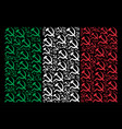 italy flag mosaic of sickle and hammer items vector image