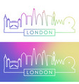 london skyline colorful linear style editable vector image