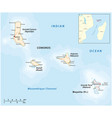 map union comoros and mayotte vector image vector image