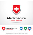 medical logo template vector image vector image