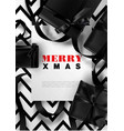 merry xmas greeting card background christmas vector image vector image
