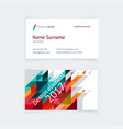 minimalistic business card design vector image vector image