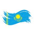 national flag of kazakhstan designed using brush vector image