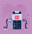 online marketing content vector image