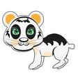 panda bear on white background is insulated vector image vector image