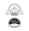 pizza labels design vector image